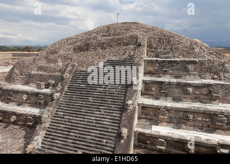 Temple of the Feathered Serpent in Teotihuacan - San Juan Teotihuacán, State of Mexico, Mexico - Stock Photo