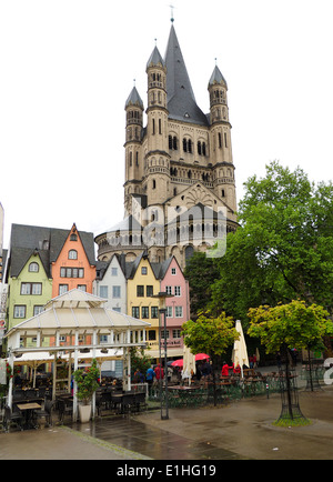 Great Saint Martin Church Cologne - Stock Photo