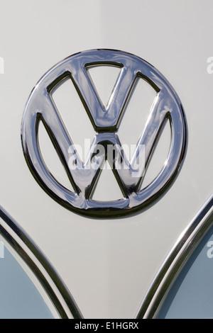 VW Volkswagen camper van, abstract - Stock Photo
