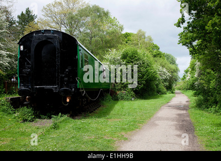 Abandoned disused railway station in West Sussex - Stock Photo