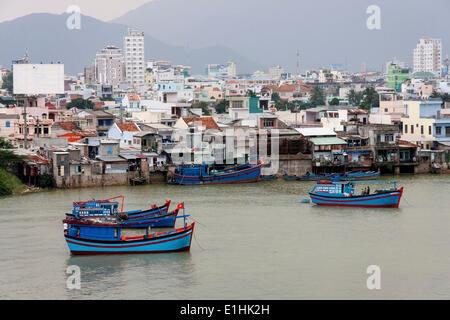 Fishing boats, Nha Trang, Khanh Hoa Province, Vietnam - Stock Photo