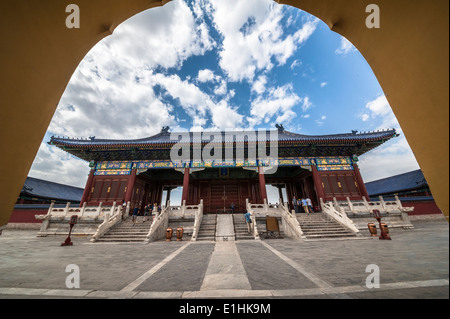 Gate of Prayer for Good Harvests, Temple of Heaven - Stock Photo