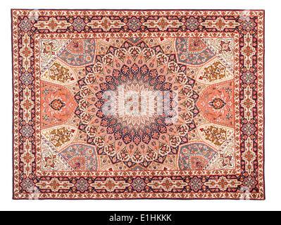 Asian Carpet Texture. Classic Arabic Pattern - Stock Photo
