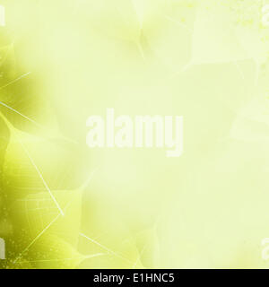 Seamless Yellow - Green Leaves Pattern. Foliage Ornament - Stock Photo