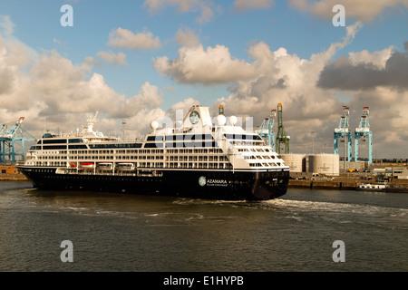 Azamara cruise ship port of zeebrugge taken from a north sea ferry stock photo royalty free - Where is zeebrugge ferry port ...