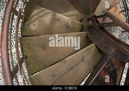 Old rusty staircase - Stock Photo