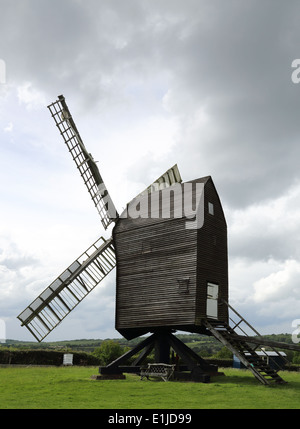 nutley windmill in the ashdown forest in east sussex - Stock Photo