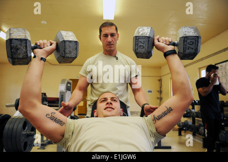 U.S. Navy Chief Hospital Corpsman Josh Ives, an individual augmentee assigned to the Farah Provincial Reconstruction - Stock Photo