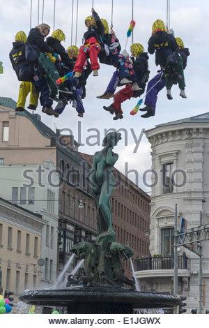 May Day Eve celebration in Helsinki 2014 - Stock Photo