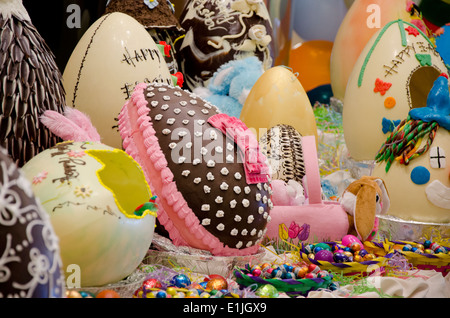 Australia. Easter display of decorated holiday chocolate ...
