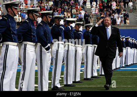 Secretary of the Air Force Michael B. Donley enters the U.S. Air Force Academy's Falcon Stadium for the Class of - Stock Photo