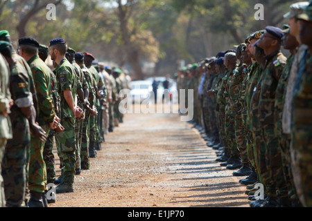 Military personnel and delegates from more than 40 nations gather at the Zambia Army Headquarters in Lusaka, Zambia, - Stock Photo