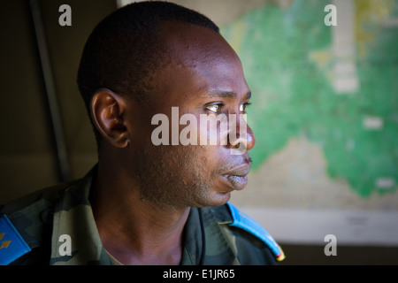 Military personnel and delegates from more than 40 nations begin the scenario-driven exercise portion of Africa - Stock Photo