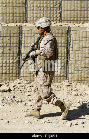 U.S. Marine Corps Sgt. Maj. Rafael Rodriguez, the battalion sergeant major of the 3rd Battalion, 7th Marine Regiment, - Stock Photo