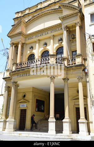 The Astra Theatre (Teatru) , Victoria (Città Victoria) Gozo (Għawdex), Gozo and Comino District, Gozo Region, Republic - Stock Photo