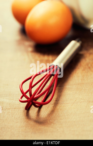 Cooking and baking concept (Ingredients and kitchen tools) - Stock Photo