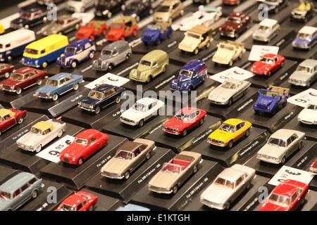 Vintage car show - miniature cars - Stock Photo