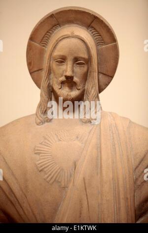 Jesus statue in Sainte-Marie des Batignolles church - Stock Photo