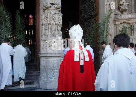 Palm sunday at Notre Dame Cathedral, Paris. Entry procession - Stock Photo