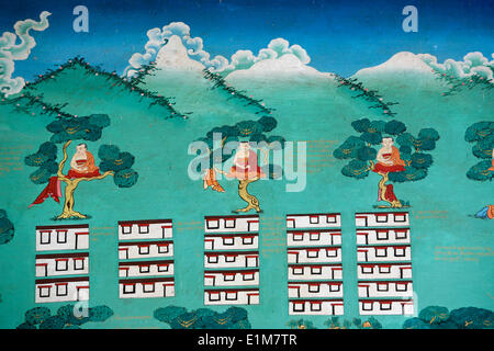 The Myth of Shangri La.  Kopan monastery. - Stock Photo