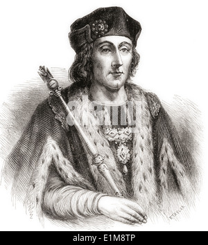 Henry VII, 1457 –1509. King of England and Lord of Ireland. - Stock Photo