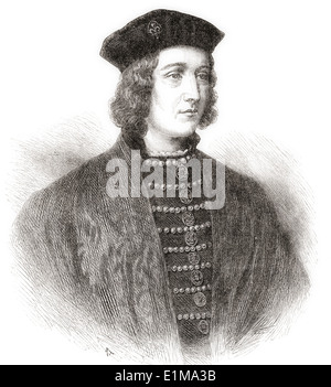 Edward IV, 1442 – 1483. King of England. - Stock Photo