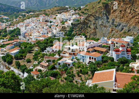 Greece, Dodecanese, Karpathos island, Menetes village - Stock Photo