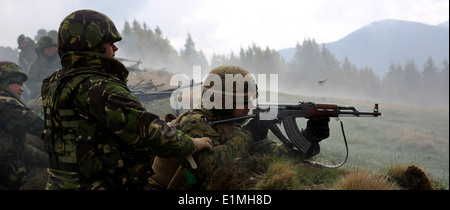 U.S. Marine Corps Cpl. Matthew Haines, a mortarman with the 3rd Battalion, 8th Marine Regiment, assigned to Black - Stock Photo