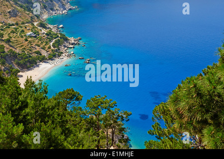 Greece, Dodecanese, Karpathos island, Apella beach - Stock Photo