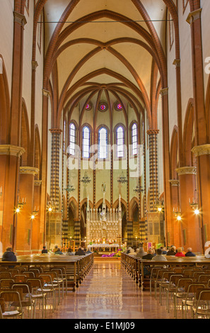BOLOGNA, ITALY - MARCH 15, 2014: Church San Francesco or Saint Francis - Stock Photo