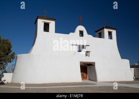 USA, New Mexico, Isleta Pueblo, San Agustin de la Isleta Mission, founded 1622 - Stock Photo