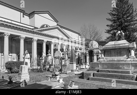 BOLOGNA, ITALY - MARCH 17, 2014: Old cemetery (certosa) by St. Girolamo church. - Stock Photo