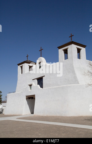 USA, New Mexico, Isleta Pueblo, Saint Augustine Mission, originally built in 1612 - Stock Photo