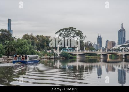 River boat on Yarra River, Melbourne - Stock Photo