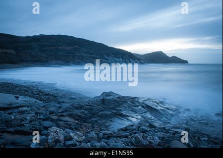 Seascape at Crackington Haven beach North Cornwall - Stock Photo