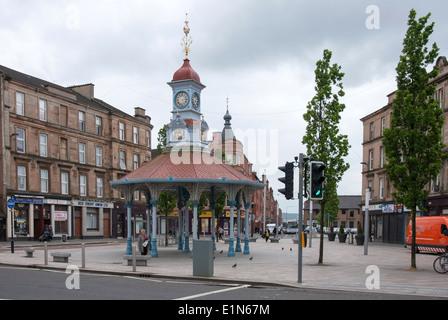 The Seven Ways Bridgeton Cross Glasgow and The Umbrella - Stock Photo