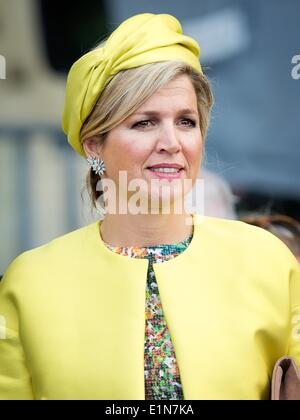 Sword Beach, Ouistreham, France. 6th June, 2014. Queen Maxima attends the D-Day commemoration to mark the allied - Stock Photo