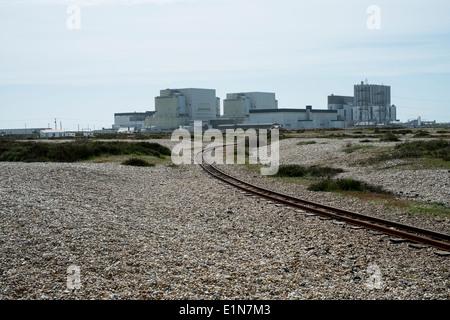 Dungeness Nuclear Power station on the shingle coastline of Kent. England. - Stock Photo