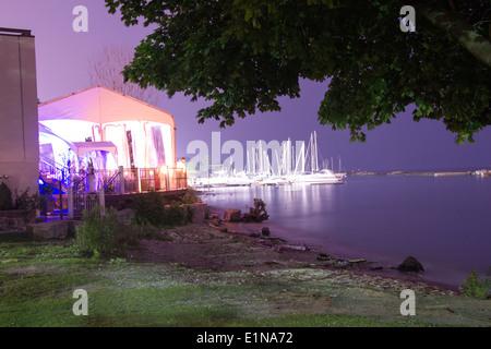 sunnyside bathing pavilion in toronto ontario canada stock photo