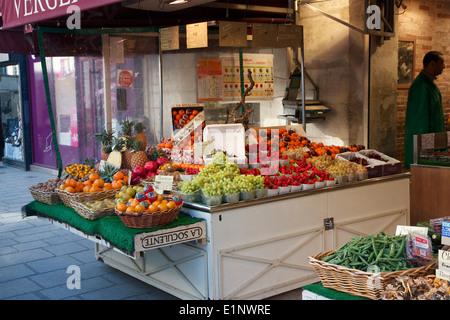 fruit shop in Paris - Stock Photo