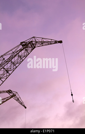 Port crane with dramatic sky - Stock Photo