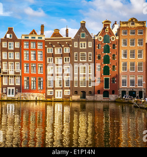 Old buildings in Amsterdam - Stock Photo