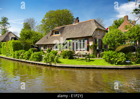 Giethoorn village - Holland Netherlands - Stock Photo