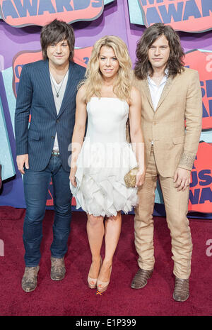 Jun. 4, 2014 - Nashville, Tennessee; USA - Musician KIMBERLY PERRY of The Band Perry arrives on the red carpet at - Stock Photo