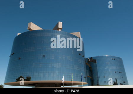Towers of the Federal Prosecution Office - General Prosecutor - in Brasilia Brazil - By Niemeyer Oscar - Stock Photo