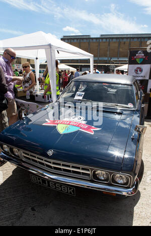 London, UK. 08th June, 2014. Vauxhall Art Car Boot Fair, Brick Lane, London, UK  Credit:  Simon Balson/Alamy Live - Stock Photo