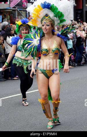 Glasgow, Scotland, UK, Sunday, 8th June, 2014. The Glasgow West End Festival Mardi Gras Parade Credit:  Kenny Williamson - Stock Photo