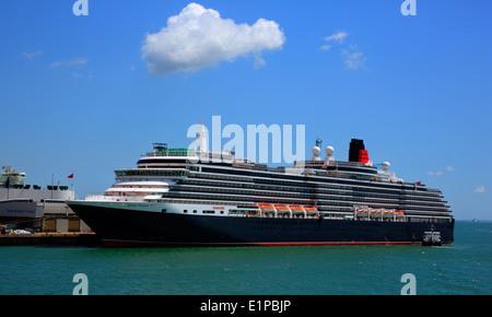 Queen Victoria cruise ship at Southampton Docks England UK - Stock Photo