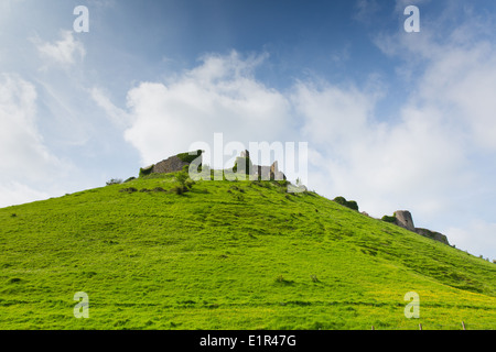 Corfe Castle Dorset England ruins of English fortification built by William the Conqueror Grade I listed building - Stock Photo