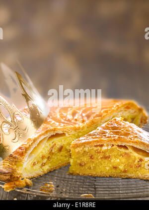 Marzipan and fig galette - Stock Photo